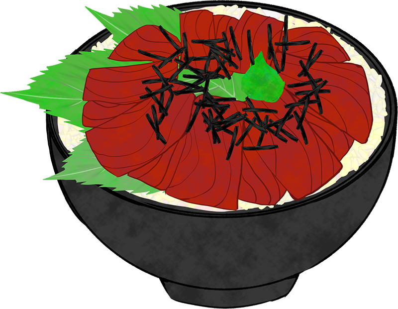 鉄火丼のイラスト