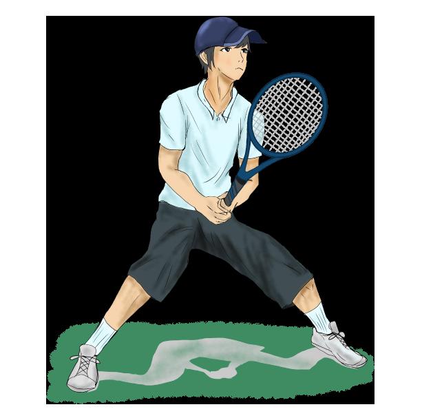 テニスの男性プレイヤー