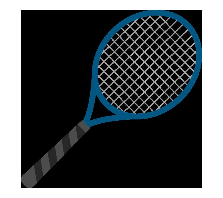 テニスラケットのイラスト
