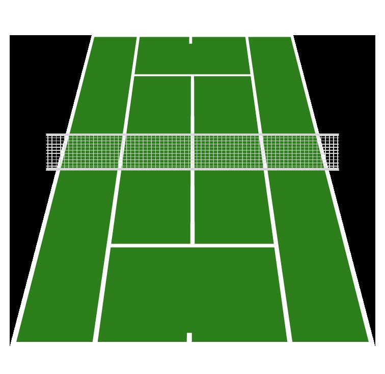 テニスコートのイラスト