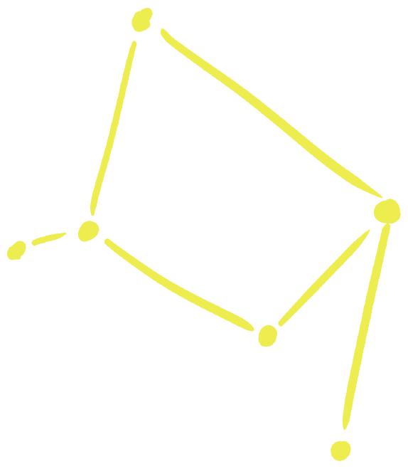 点と線の天秤座の星図