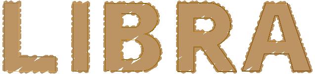 LIBRAのアートな文字