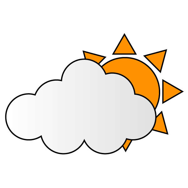 曇りのち晴れのイラスト