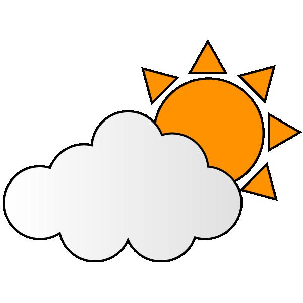 曇り晴れのイラスト
