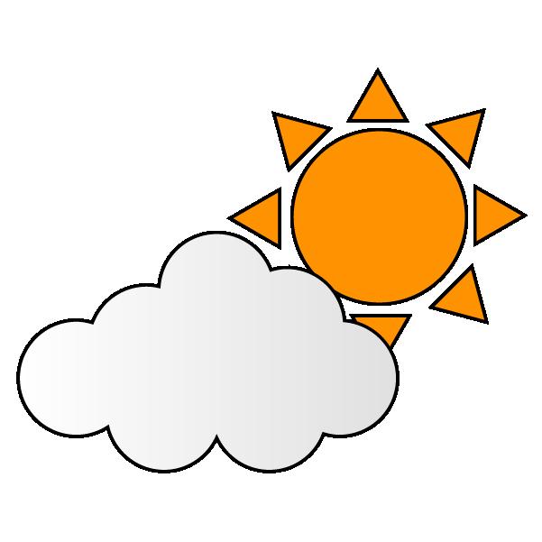 曇り概ね晴れのイラスト