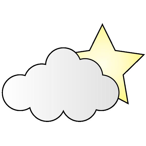 曇りのち夜の晴れのイラスト