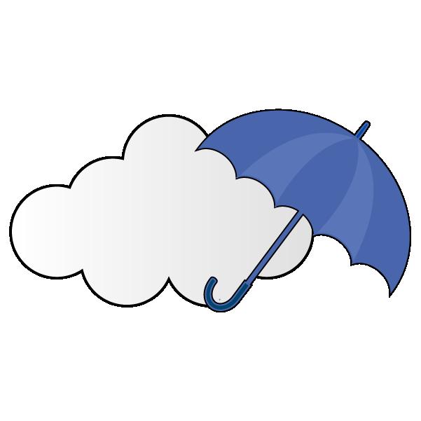曇りのち雨のイラスト
