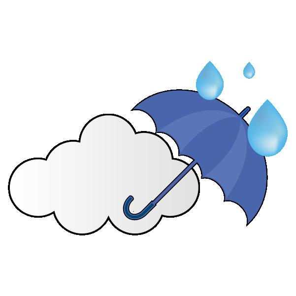 曇りのち強い雨のイラスト