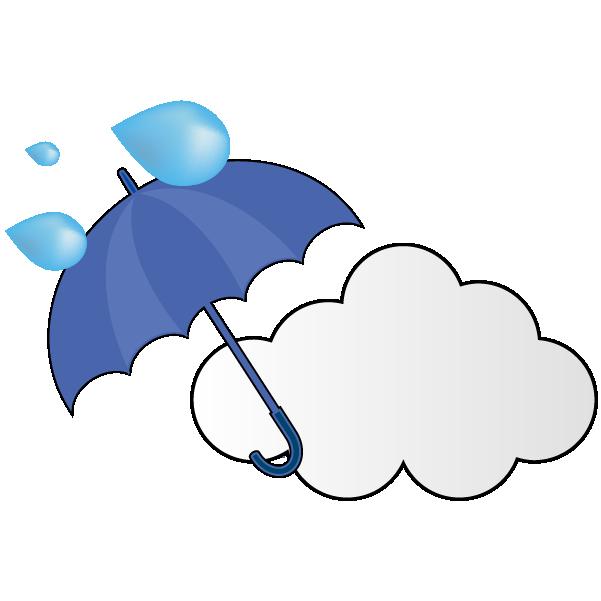 強い雨のち曇りのイラスト