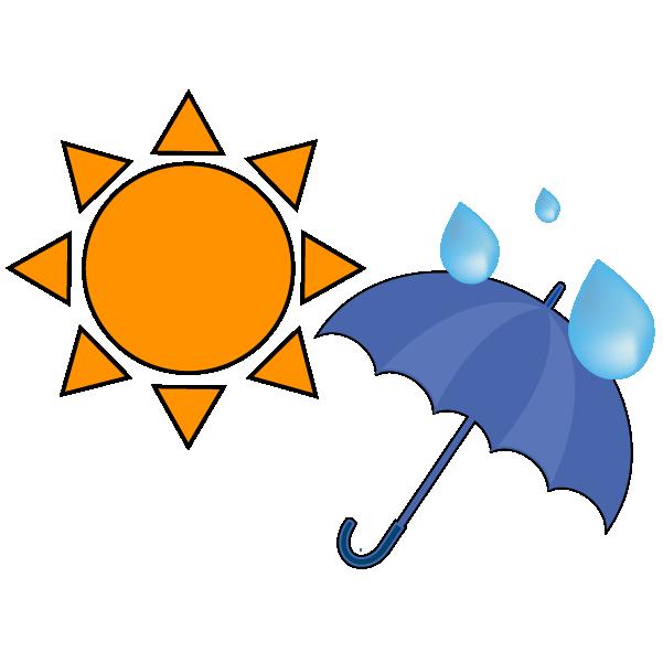 晴れのち大雨のイラスト