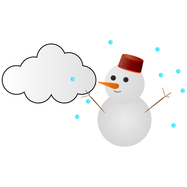 曇りのち雪のイラスト