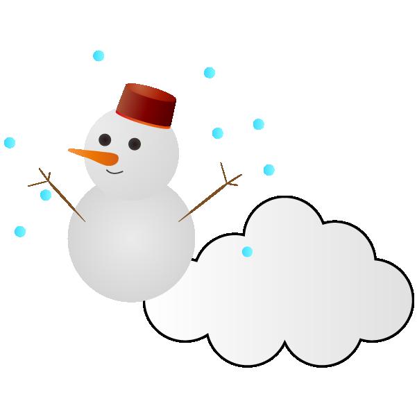 雪のち曇りのイラスト