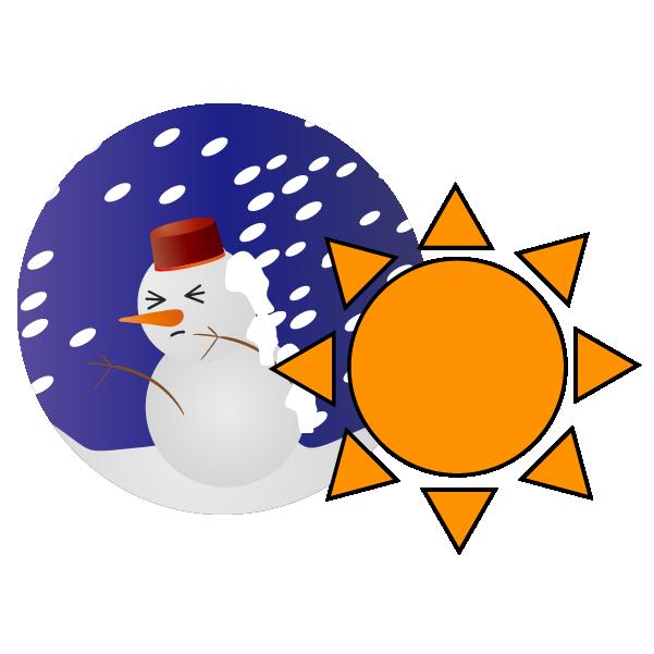 暴風雪のち晴れのイラスト