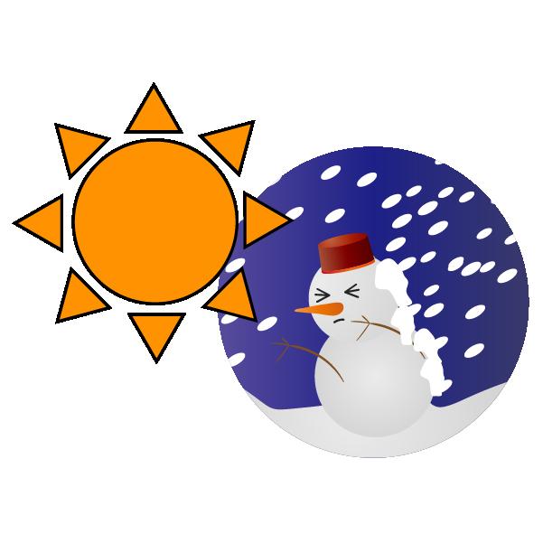 晴れのち暴風雪のイラスト