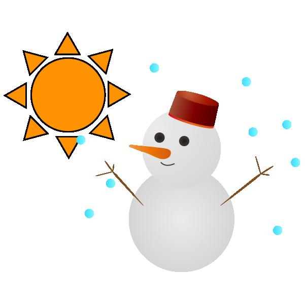 晴れのち雪のイラスト
