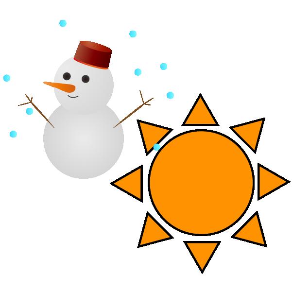 雪のち晴れのイラスト