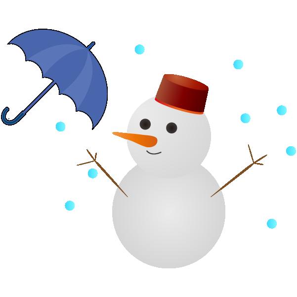雨のち雪のイラスト