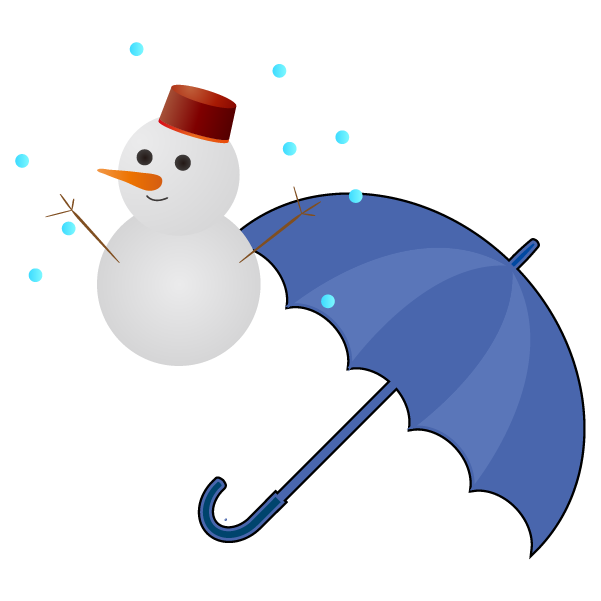 雪のち雨のイラスト