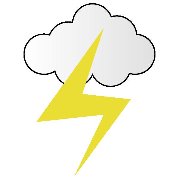 曇りのち雷のイラスト