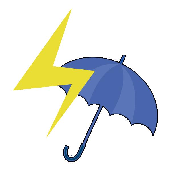 雷のち雨のイラスト