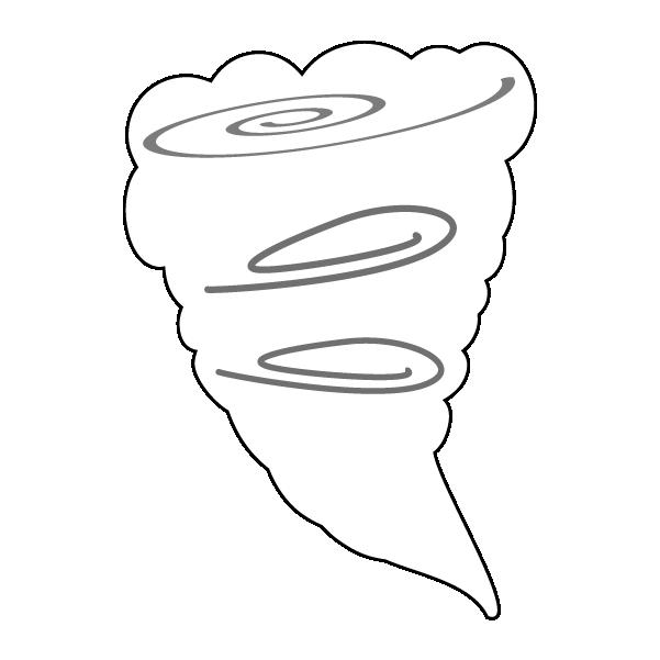 竜巻のイラスト