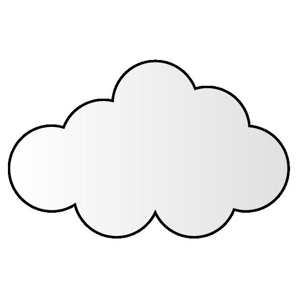 曇りのイラスト
