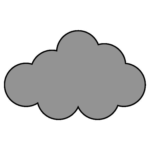 薄暗い曇りのイラスト
