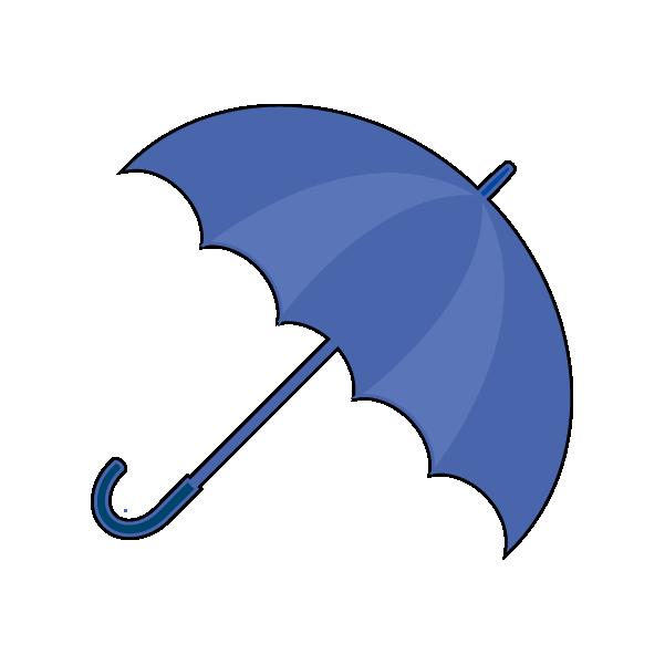 斜めの雨のイラスト