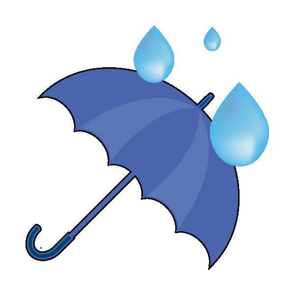 水玉と雨のイラスト