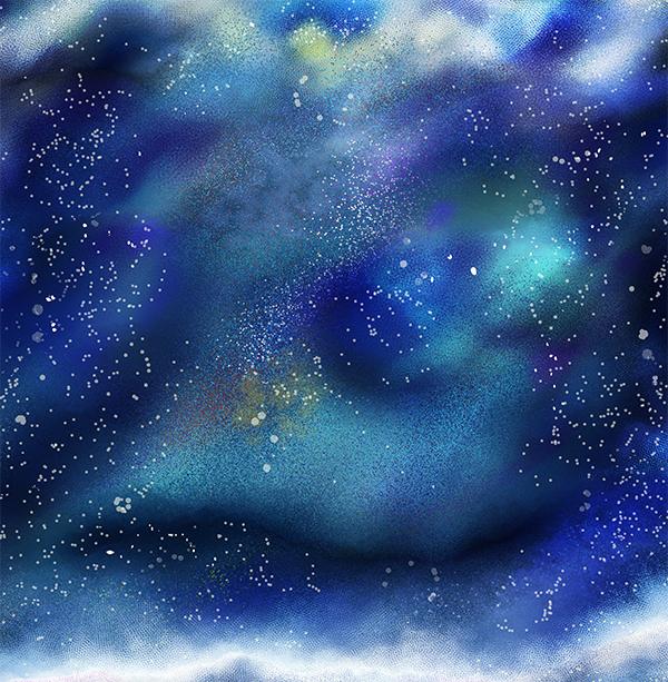 宇宙の背景イラスト