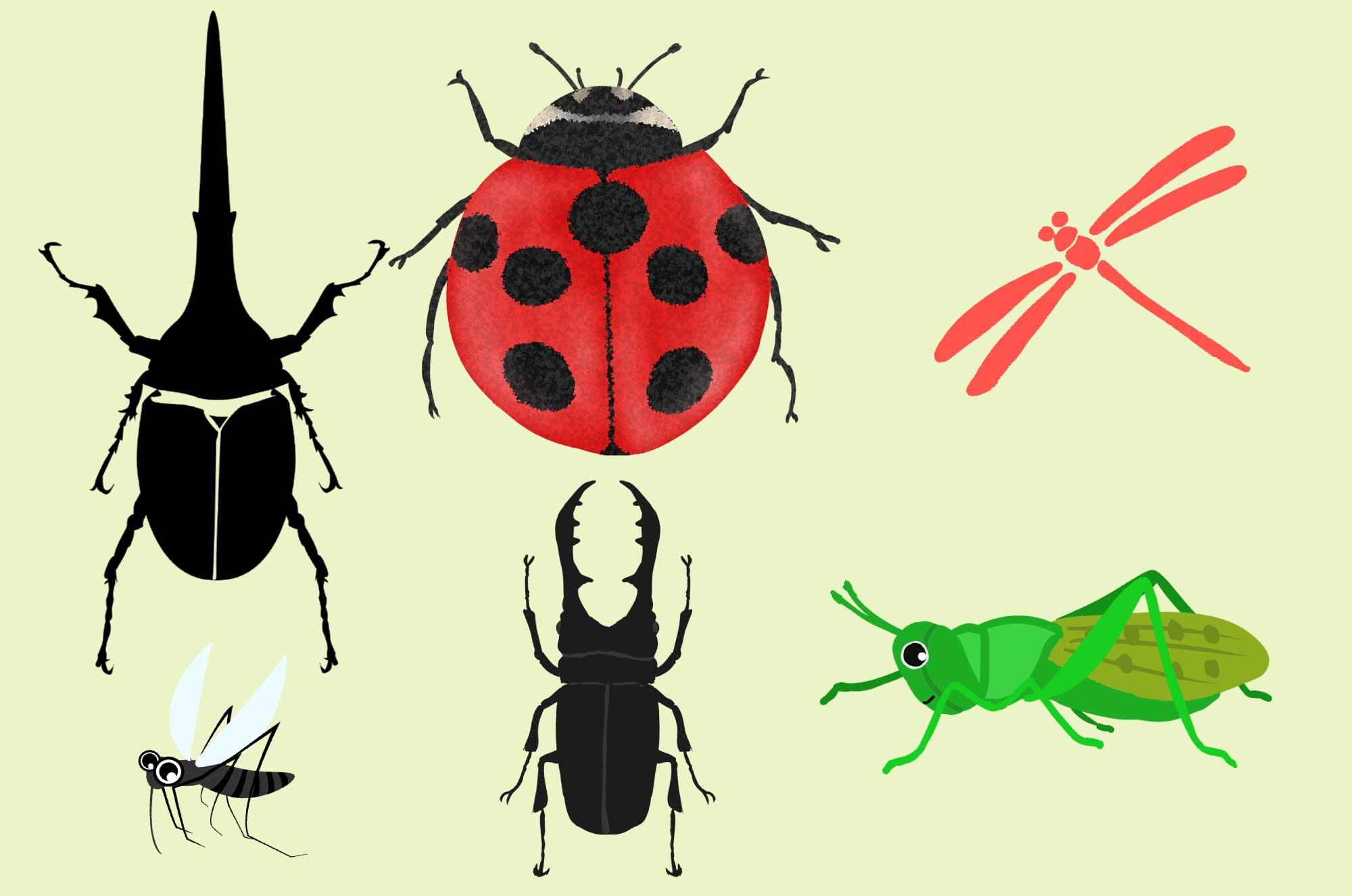 昆虫の無料イラスト - シンプルで可愛いフリー素材