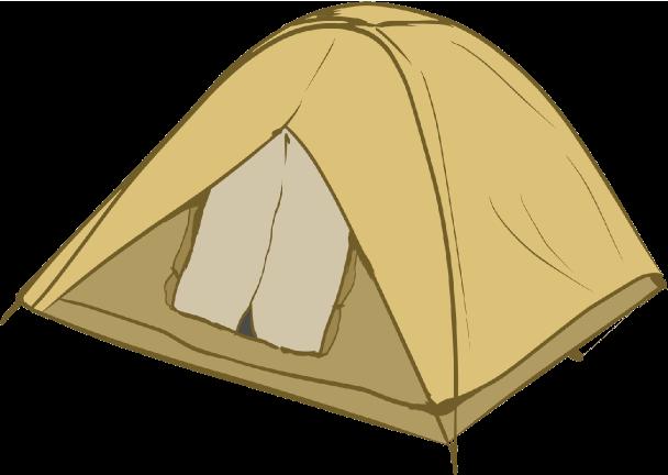 2人用の小型テントのイラスト