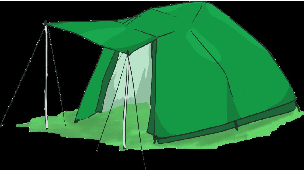 5人用テントのイラスト