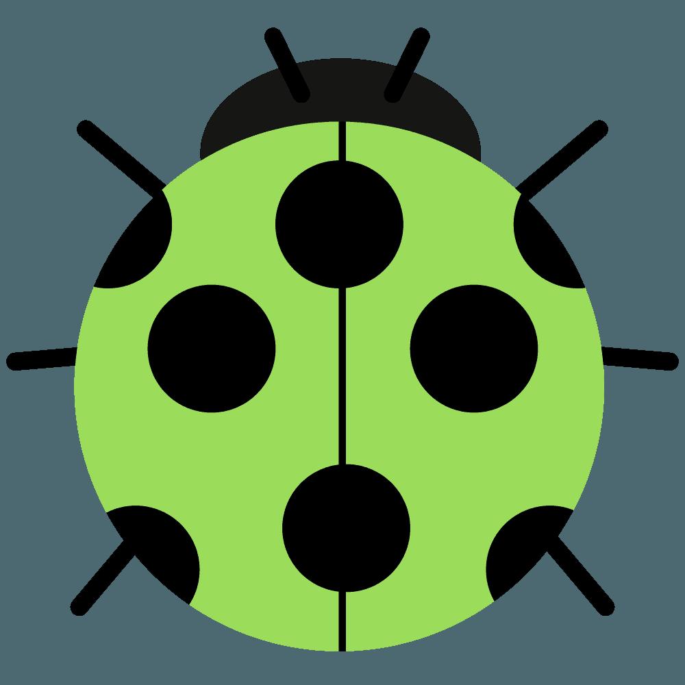 黄緑色のシンプルてんとう虫イラスト