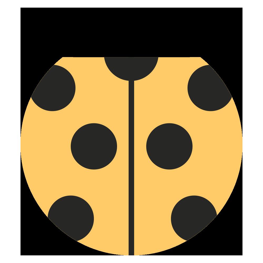 黄色い可愛いてんとう虫のマークのイラスト