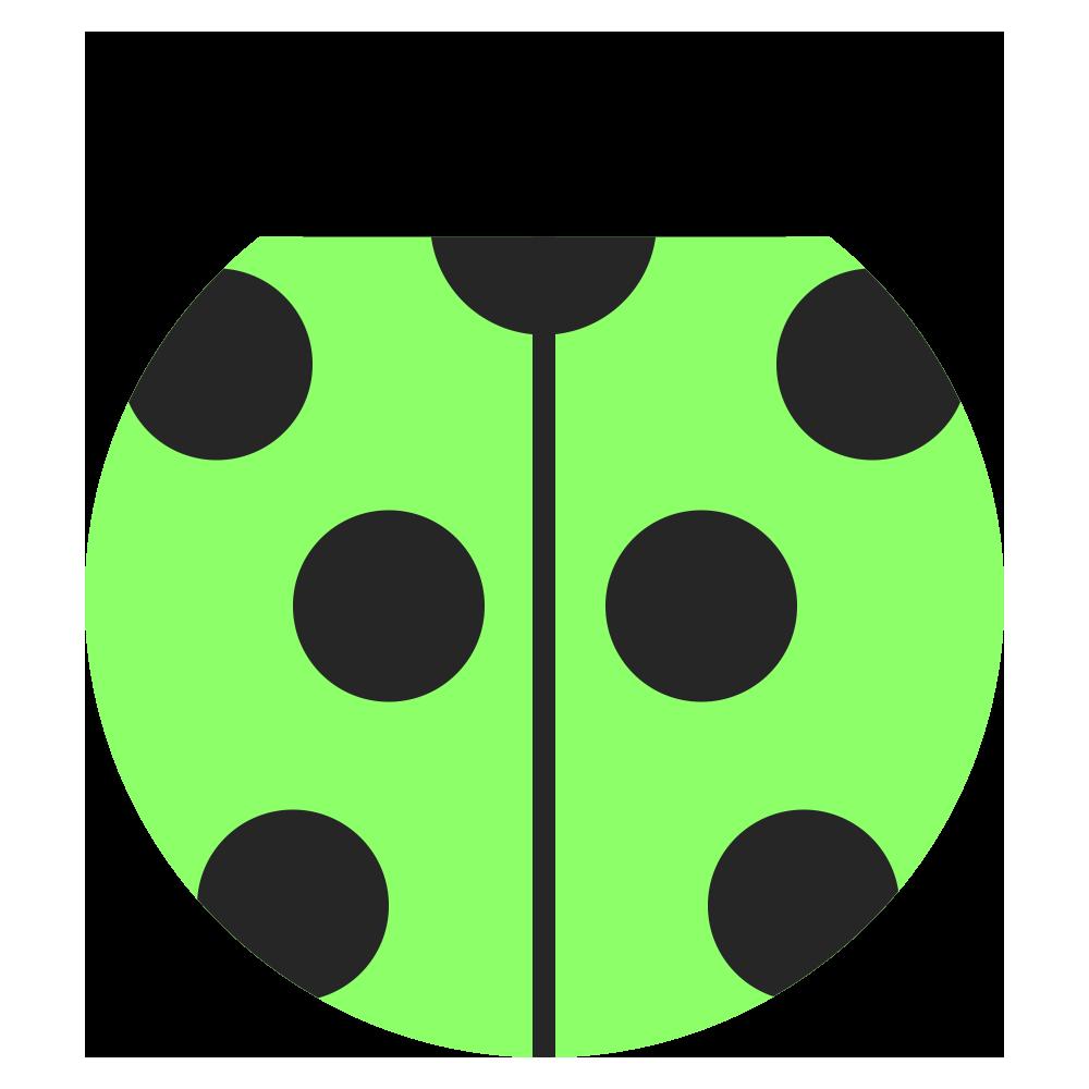 緑の可愛いてんとう虫のマークのイラスト