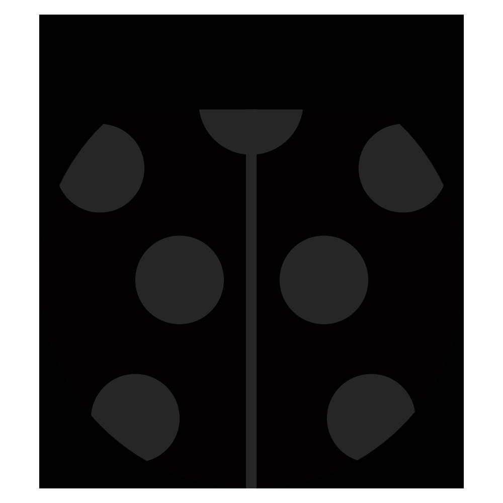 黒い可愛いてんとう虫のマークのイラスト