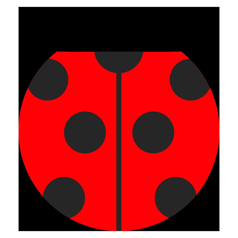 真っ赤な可愛いてんとう虫のマークのイラスト