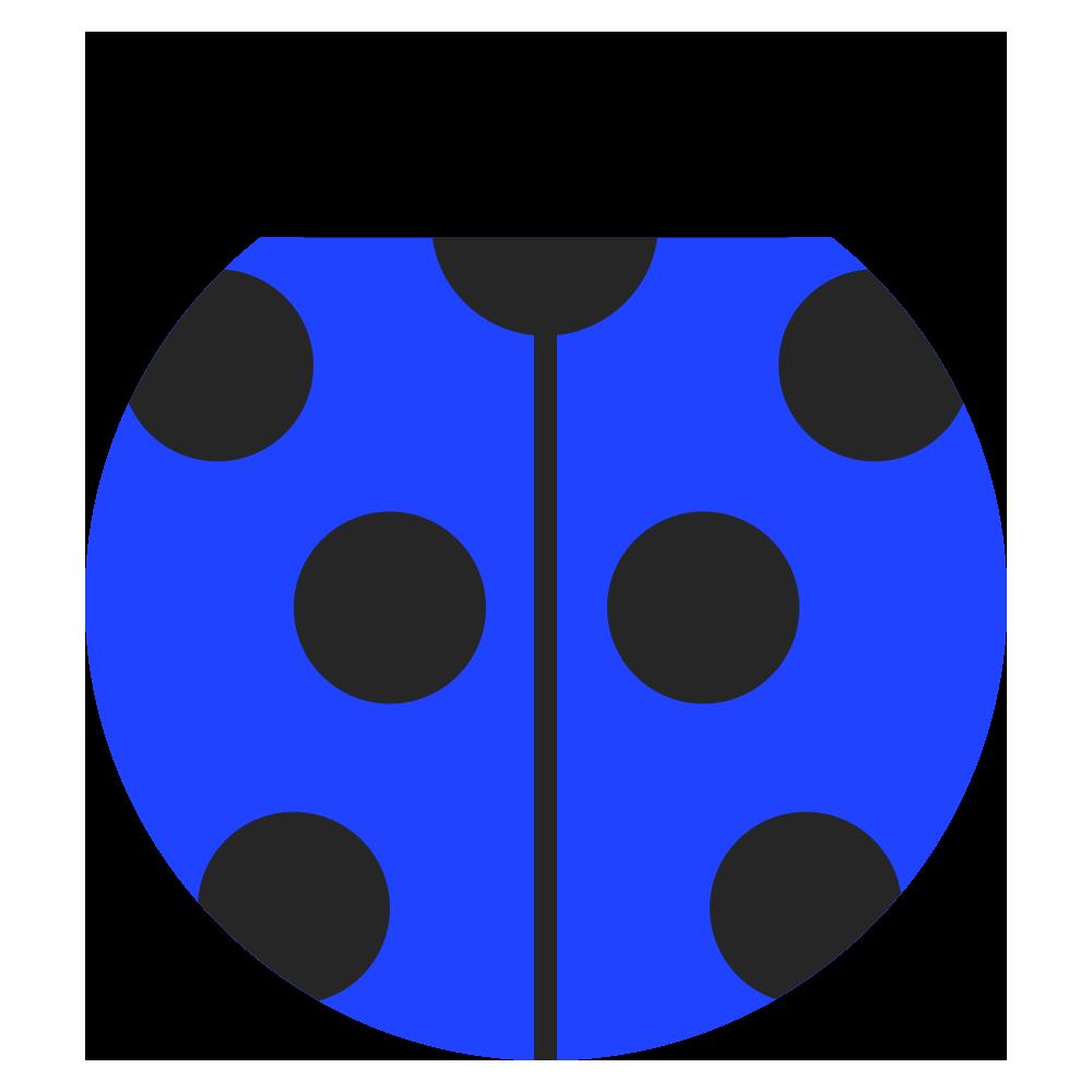 青い可愛いてんとう虫のマークのイラスト