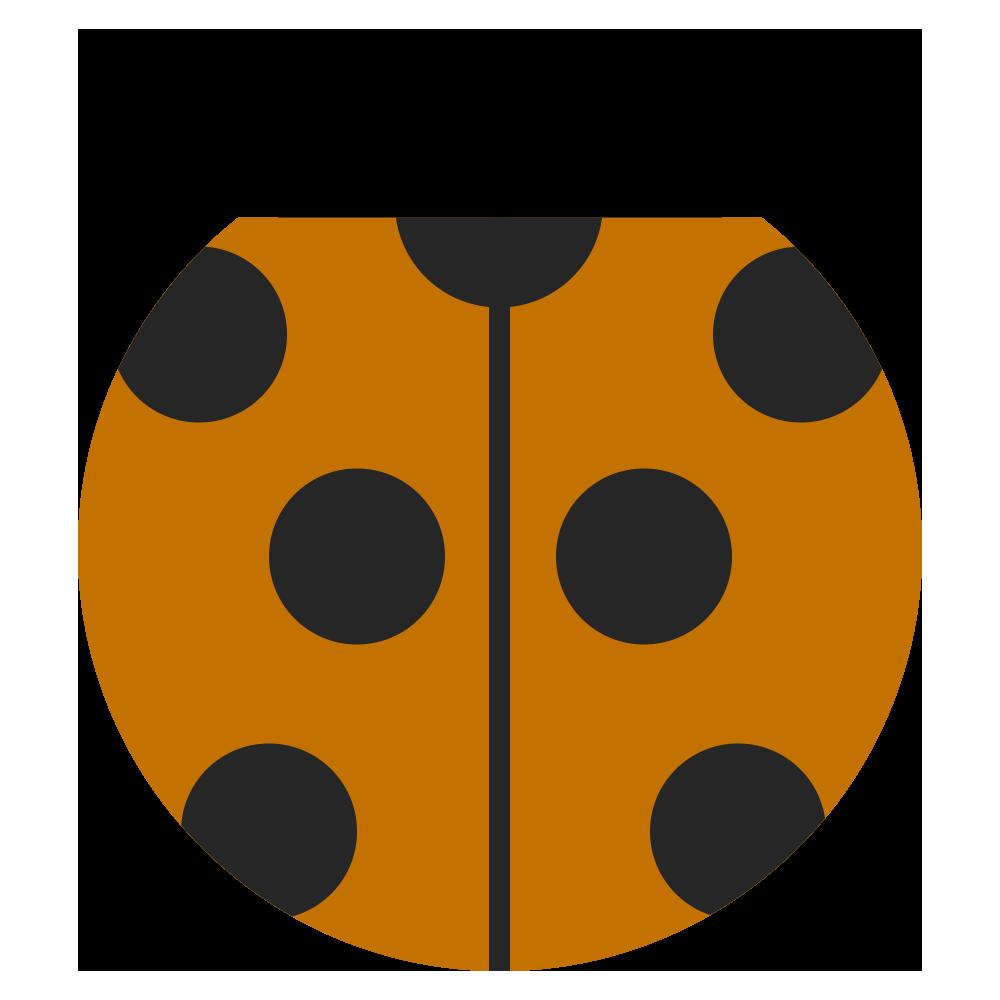 茶色い可愛いてんとう虫のマークのイラスト