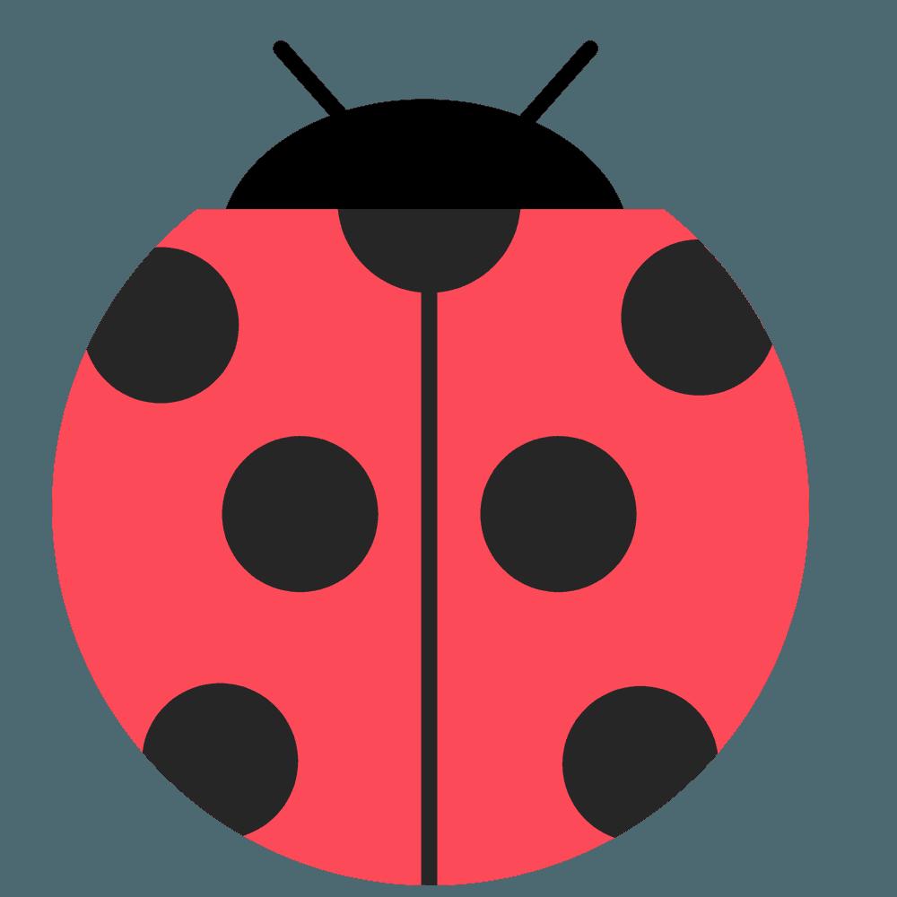 可愛いてんとう虫のマークのイラスト