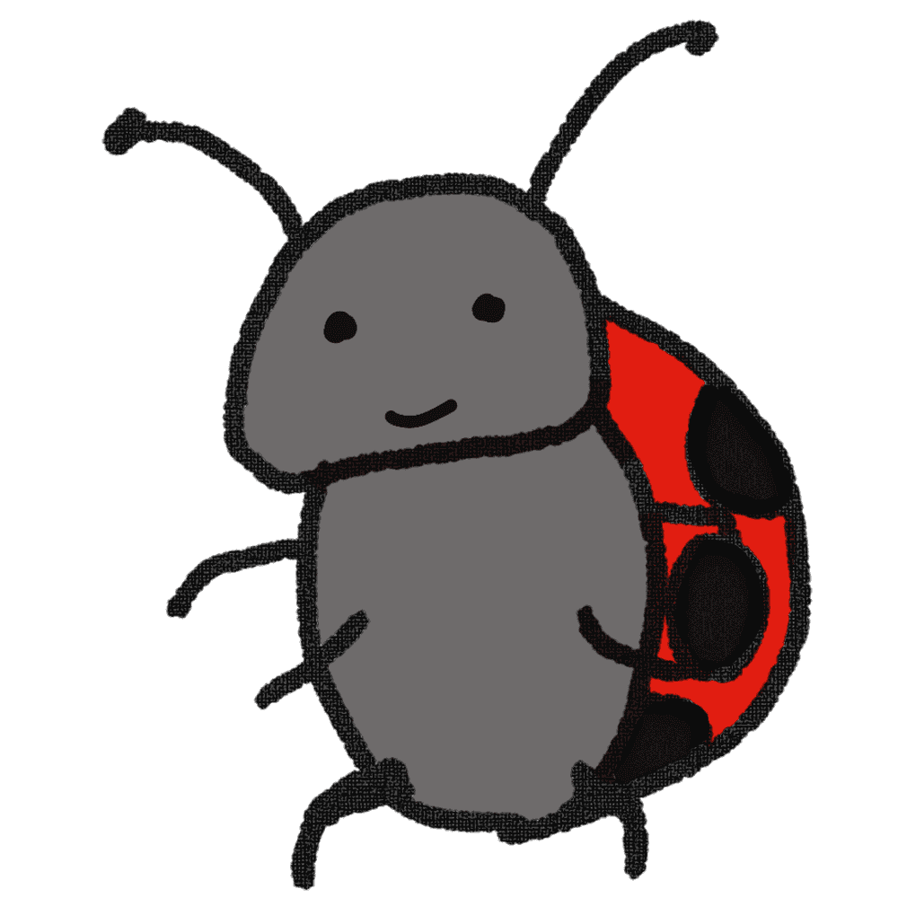 てんとう虫のキャラクターイラスト
