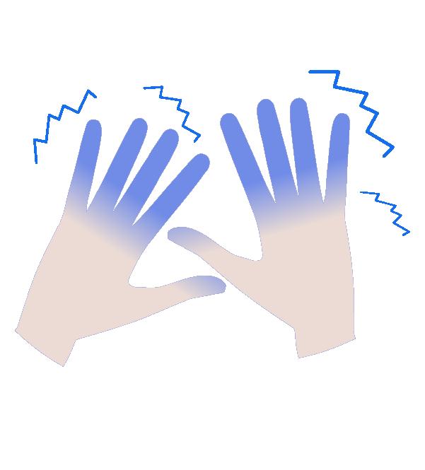 冷え性・霜焼けの手のイラスト