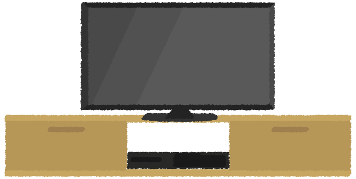 小型のテレビのイラスト