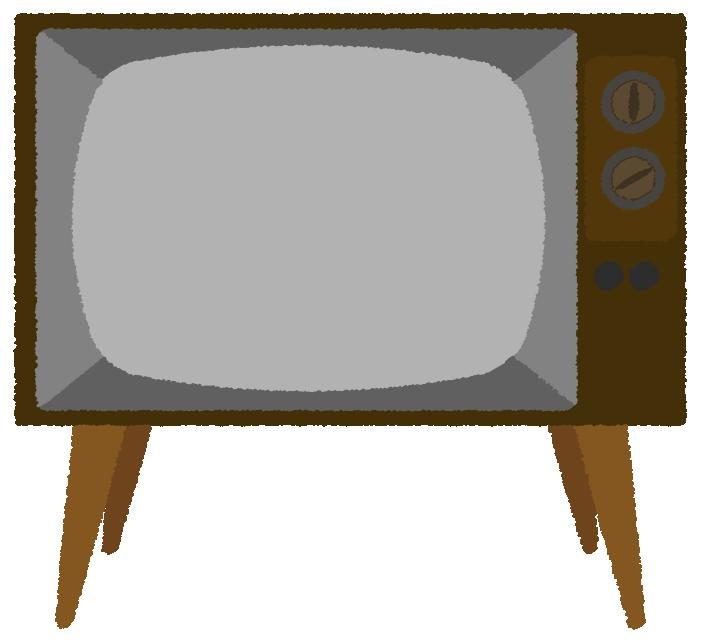かわいいレトロなテレビのイラスト