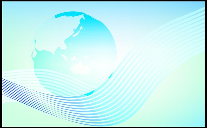 地球とエコの背景のイラスト
