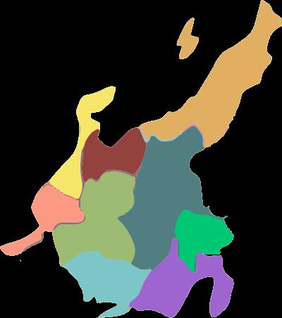 中部地方名称なしのイラスト