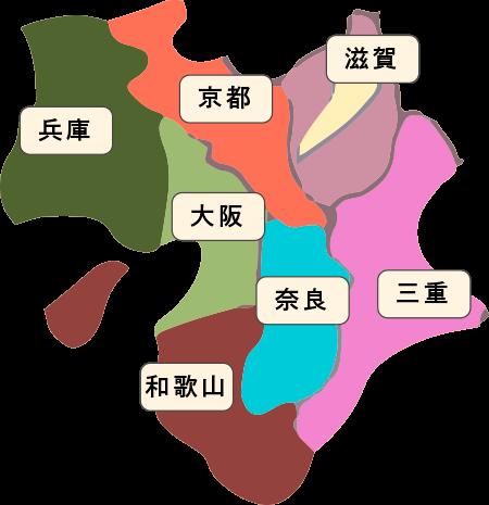 近畿地方名称入りのイラスト2