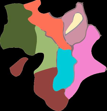 近畿地方名称なしのイラスト