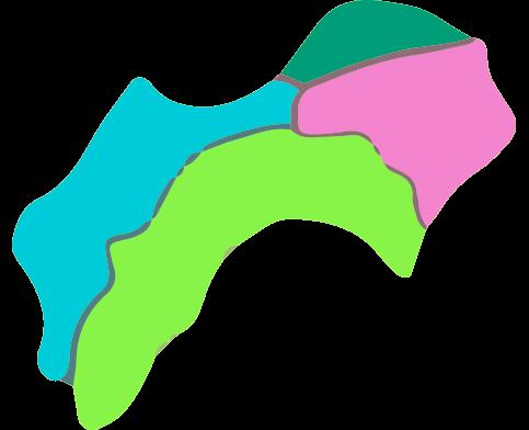 四国地方名称なしのイラスト